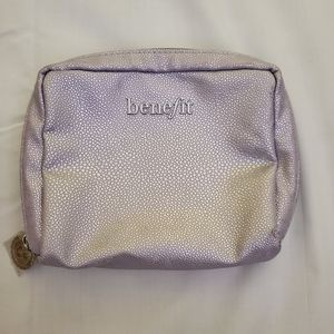 NWOT Benefit Small Cosmetic Travel Pouch Bag